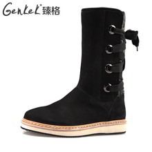 GENKEK/by 2013 winter casual and comfortable Low heel boots in the dermis Winter boots to keep warm