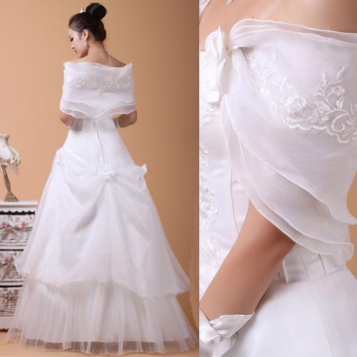 Свадебное платье Ho Man Ting H15 2011 Органза Принцесса с кринолином Элегантный стиль