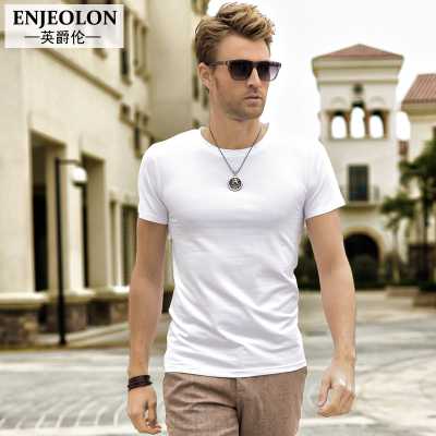 British Grand Rumba Rock Solid Men small wind round neck short sleeve men's short-sleeve T-shirt tide compassionate cotton