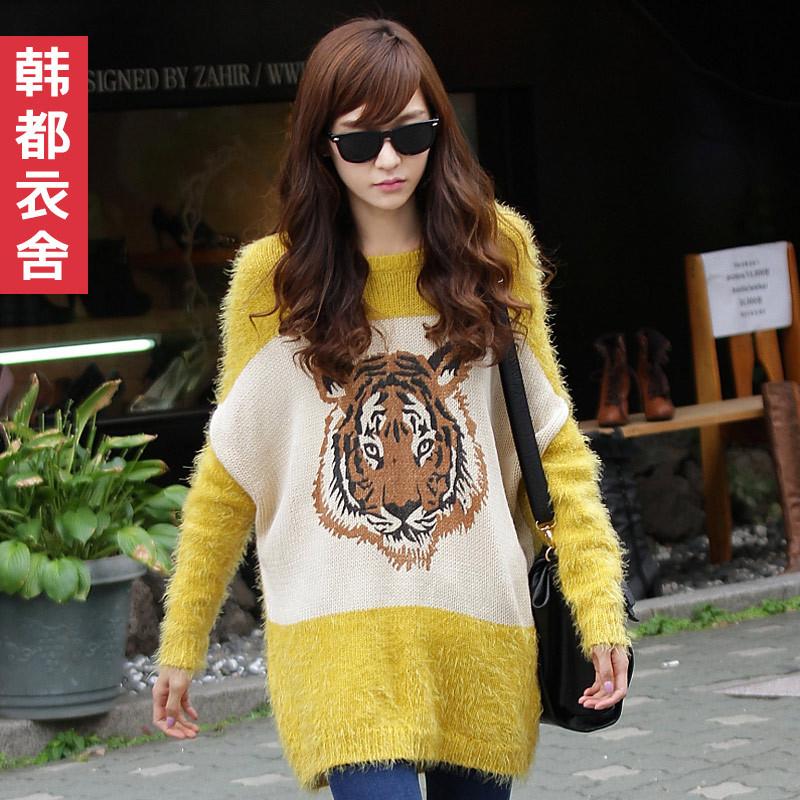 """Свитер женский Korean homes have clothes jm1319 2012 акриловое волокно длинный рукав рукав """"летучая мышь"""" закругленный вырез"""