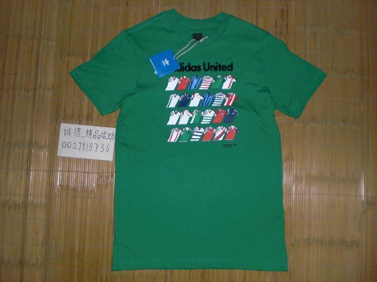 Спортивная футболка Clover adidas p04111 Adidas Football Tee :320 Стандартный Воротник-стойка Короткие рукава ( ≧35cm ) 100 Логотип бренда