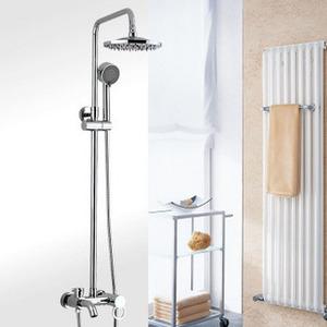 七洲正品 莲蓬头全铜三档带升降下出水增压浴缸淋浴龙头 花洒套装