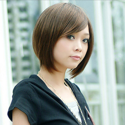 假发jiafa高温丝刘海短发发型女沙宣头短直发斜刘海直发短发图片