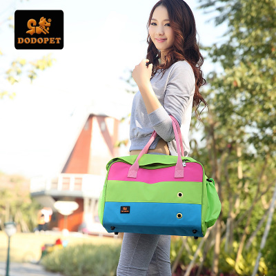 Blossoming out new dog backpack bag cat bag pet dog pack bag out portable pet backpack