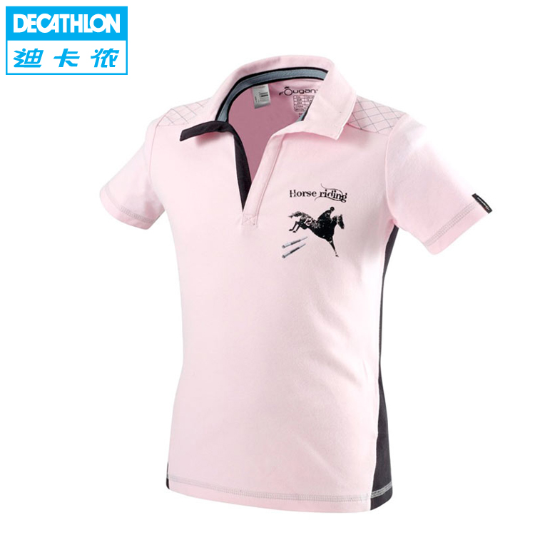 Decathlon authentic equestrian POLO shirts t shirt youth/children's Equestrian clothing FOUGANZA