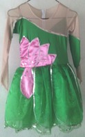 女童花瓣现代舞表演服装 儿童长袖荷花公主裙荷叶舞蹈服舞台服