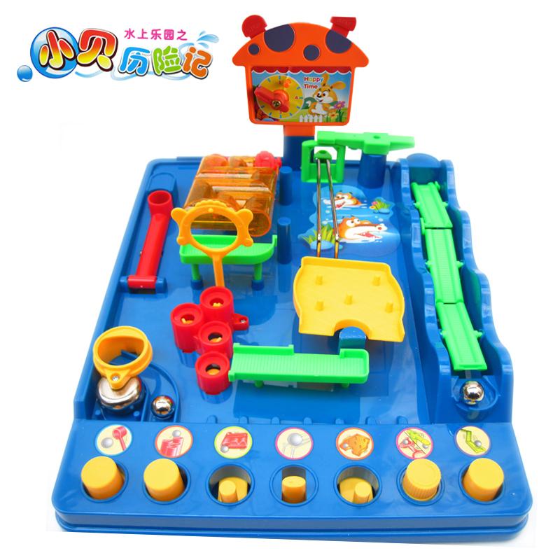 Игра-лабиринт 正品爱可优小贝历险记儿童智力玩具3岁以上成人益智玩具迷宫特价