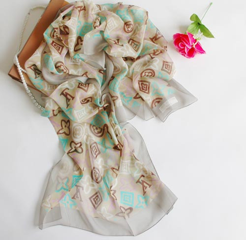 silk scarf fashion. Classic Color Green Silk Scarf