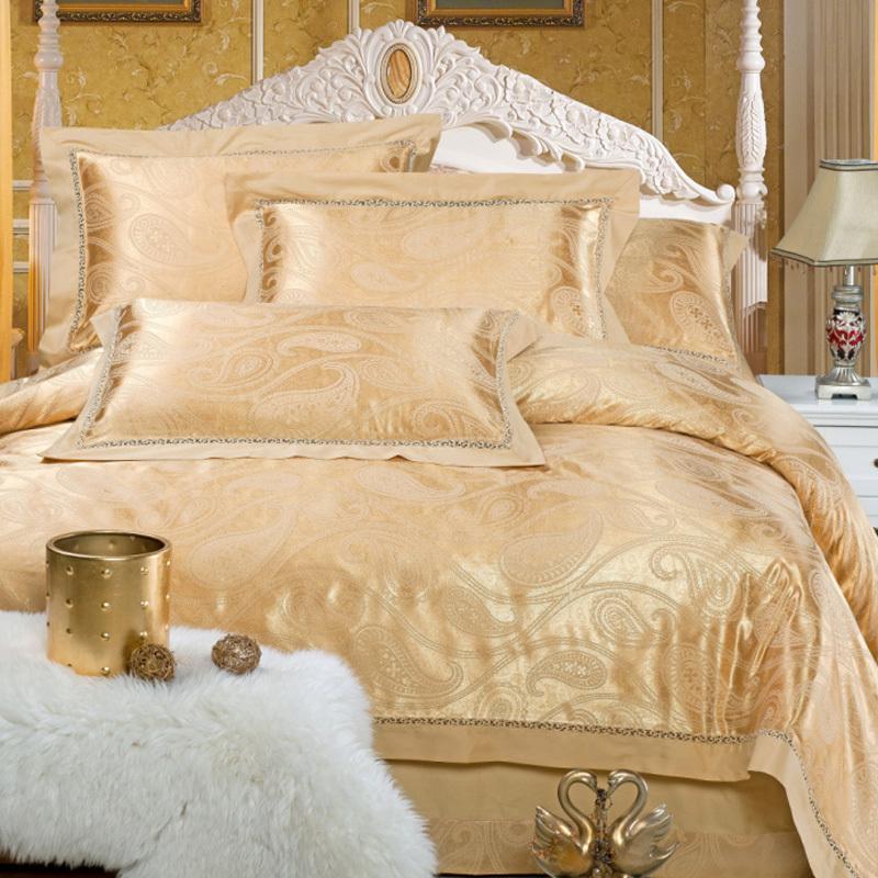 裕生家纺 床上用品 贡缎全棉提花四件套 婚庆四件套 高贵宫廷风
