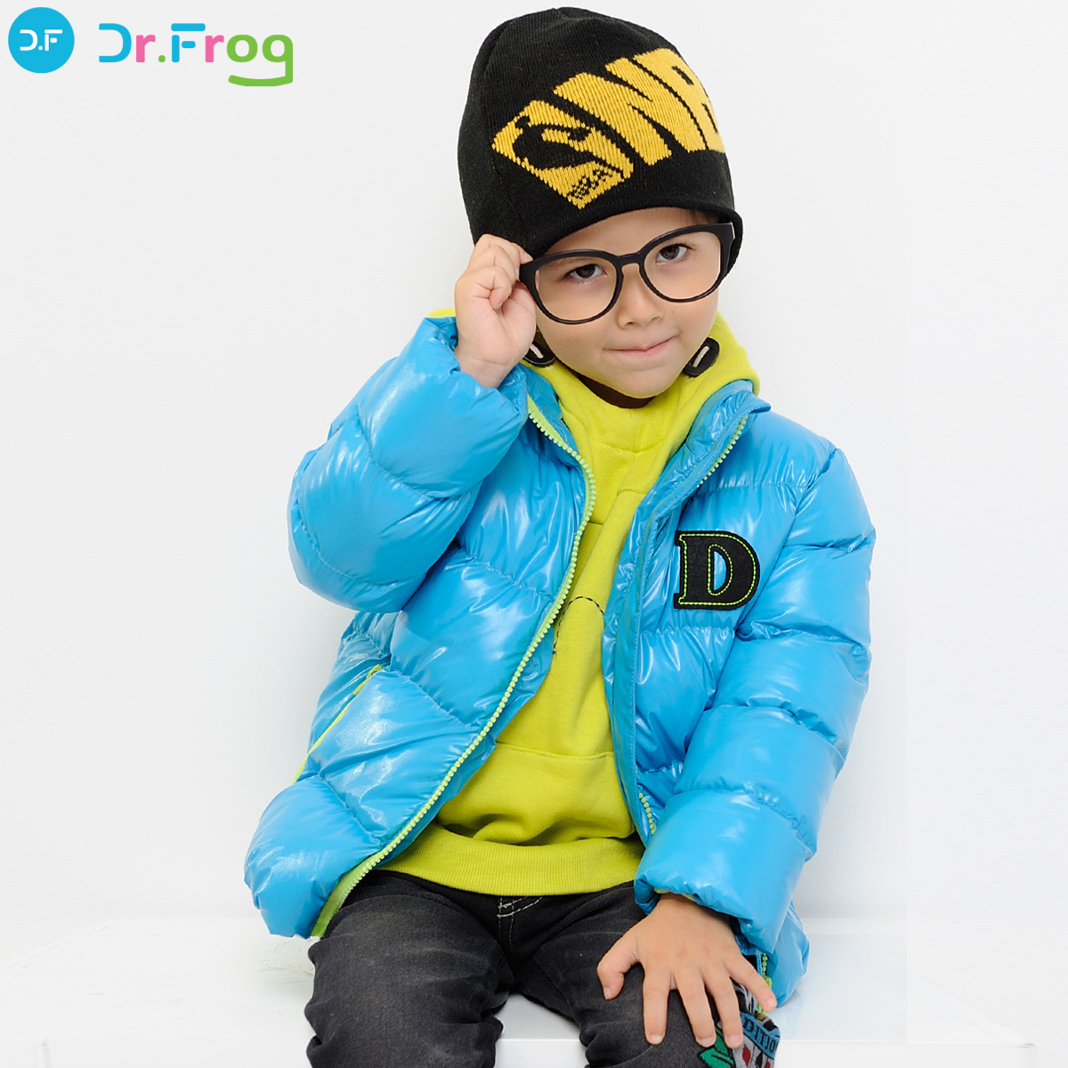 博士蛙【Dr.Frog】小男童冬装2012新款正品 时尚棉服棉衣外套DPA664151