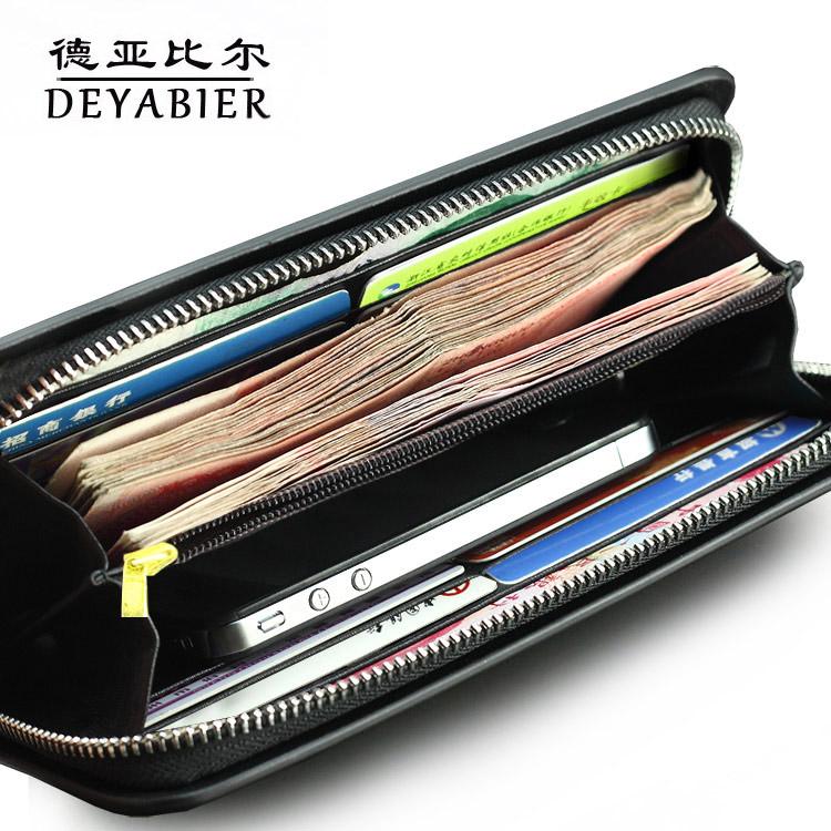 大容量真皮钱包男士长款钱包手拿包拉链钱包男多功能多卡位钱包邮