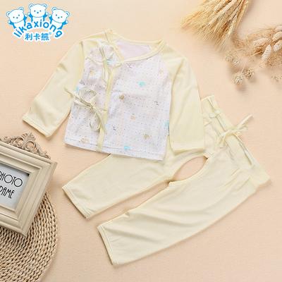 婴儿和尚服新生儿衣服0-3个月宝宝夏装女1岁男女儿童春秋套装睡衣