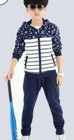 2016春款新款童装 韩版五星男童两件套 中大童童套装144