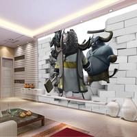 金牌3D大型壁画电视背景墙纸壁画客厅大型卡通科幻立体无缝壁画纸
