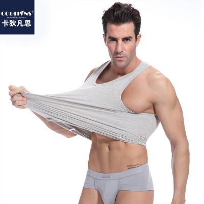 Gardiner, who thought the men relaxed and comfortable cotton Lycra vest thin cotton T-shirt bottoming shirt summer