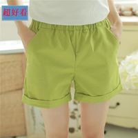 糖果色纯棉中短裤