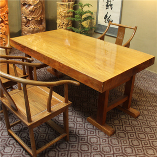 Factory direct wood slab tables flat table desk which African PEAR teak slab