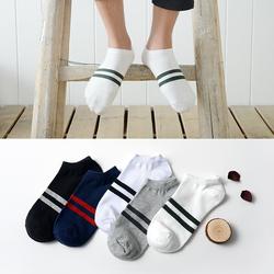秋季男袜女士船袜短袜隐形袜男人袜情侣袜薄款棉袜子浅口2b205