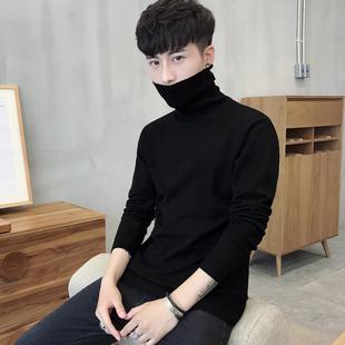 男士打底衫高领毛衣纯色针织衫长袖冬季加绒加厚线衫男装