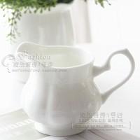 出口级纯白景德镇骨瓷咖啡奶罐奶盅奶缸咖啡奶杯 糖缸
