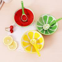 创意手绘陶瓷饭碗 汤碗面碗餐具家庭装 小勺子碗学生 水果碗可爱