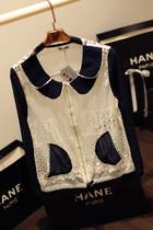 镂空蕾丝衫空调罩衫蕾丝开衫薄夏防晒衣长袖超薄双层领小外套