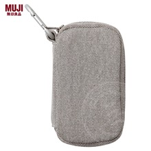 MUJI canvas with metal ring bag to receive bag zero wallet card bag key bag MUJI climbing hooks to package