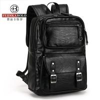新款双肩包真皮男士休闲电脑包时尚潮流牛皮英伦韩版旅行背包书包