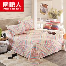 南极人老粗布床单单件双人单人宿舍加厚床单被单床上用品2.0m床