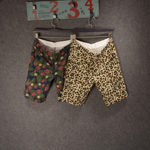 15 new coquettish one summer Men flower leopard shorts The original denier goods