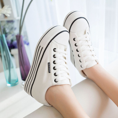 2014 summer new canvas shoes female Korean high to help increase inside shoes to help low 6CM heavy-bottomed platform shoes casual