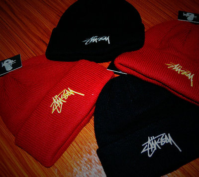 Genuine STUSSY STOCK CUFF BEANIE LOGO classic wool hat knitted hat winter hat cold cap