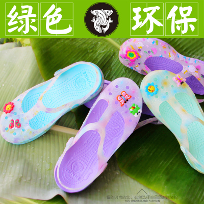 Authentic hole shoes women sandals 2014 new printing Mary Jane flat with flat sandals jelly muffin garden