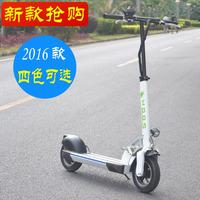 2016新款SOOM电动滑板车 10寸成人代驾代步车可折叠踏板车锂电池