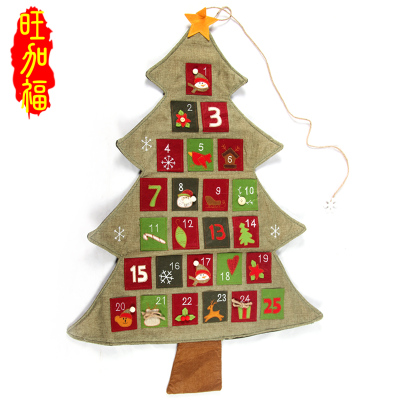 Christmas decorations Christmas tree ornaments dressed window display calendar