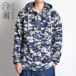 2014新款男士春秋装连帽jacket外套印花夹克青少年棒球服外套潮男