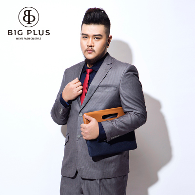 BIGPLUS yards X6020 male taxi fertilizer to increase men's fashion business suit jacket striped dress