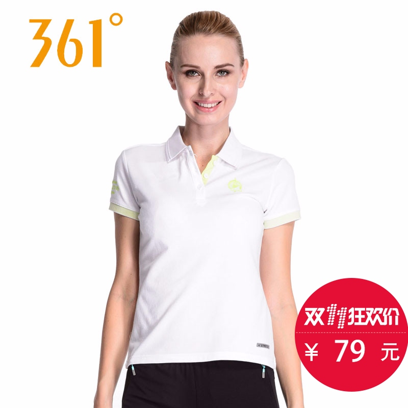 361女装女翻领短袖t恤搭配分享