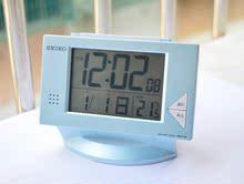 Аутентичные Seiko SEIKO цифровые электронные Японии немой ночные лампы часов постели двойной будильник радио-будильник Snooze
