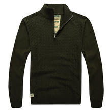 2014 international big foreign trade fall thin collar men sweater made of pure cotton knitted authentic loose big yards