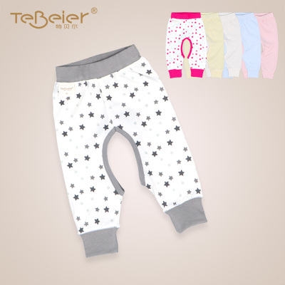 Teber 2014 spring and winter newborn baby pants cotton trousers 0-1-2 years old