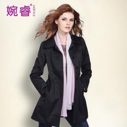 [店庆价]单排扣气质修身大码显瘦 2014春秋装新款女士风衣外套