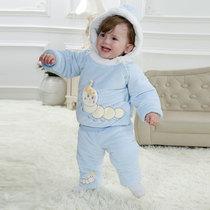 男女宝宝冬季套装加棉保暖棉衣1-2岁婴儿外出服套装一周岁套装冬