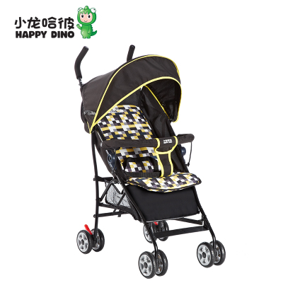 Ha He children dragons car wide umbrella stroller third gear adjustable backrest folding stroller lightweight LD209