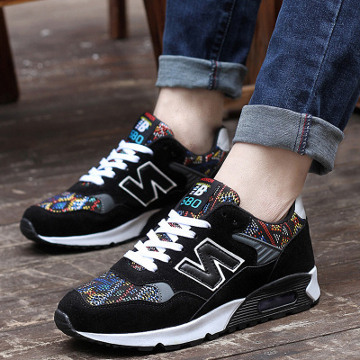 Autumn and winter sports shoes canvas shoes Korean men shoes men shoes trend nb letter N Gump tide shoes