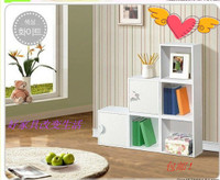 韩式宜家书架格子柜自由组合储物柜儿童书柜带门柜