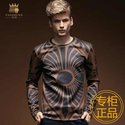 Who turn men's Spring and Autumn new long-sleeved t-shirt printing large influx of men round neck T-shirt brand retro art Givenchy Siofok America