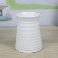 现代简约白色陶瓷花盆瓷器 餐桌书桌插花花盆螺旋纹瓷器白盆特价