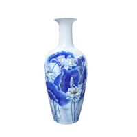 创意 现代 古典 大号客厅陶瓷青花瓷 陶瓷 摆件 落地 中式 花瓶