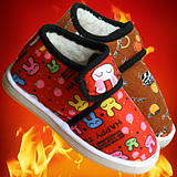 2014 children's cartoon male and female baby shoes handmade baby warm old child student winter shoes wholesale